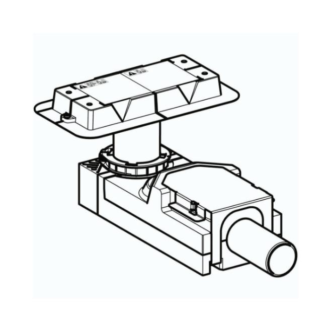 Линиски сифон - градежен сет за канален поден одвод CleanLine висина на вградување мин 65 мм