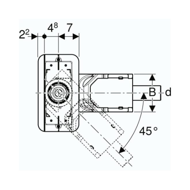 Линиски сифон - градежен сет за канален поден одвод CleanLine висина на вградување мин 65 мм 154.152.00.1